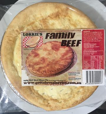 FAMILY BEEF PIE