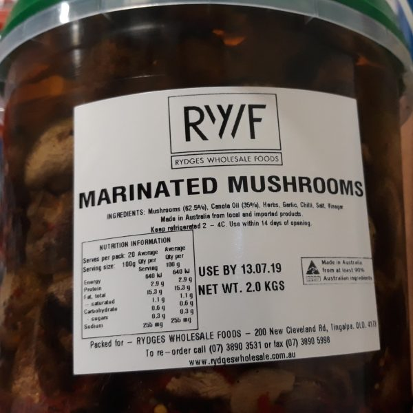 Mushrooms Marinated 2kg
