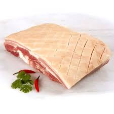 PORK BELLY RIND ON