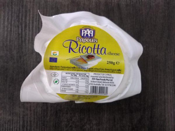 Ricotta Cheese 250g Retail