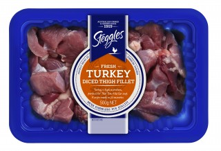 STG BLUE TURKEY DICED THIGH
