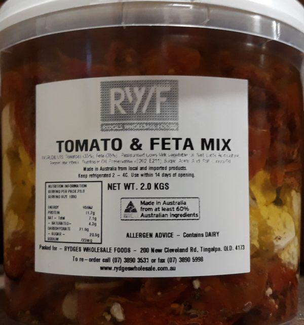 Semi dried Tom and Feta 2kg
