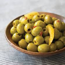 marinated green olives retail