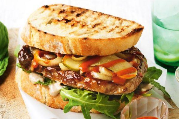 rib fillet steak sandwich