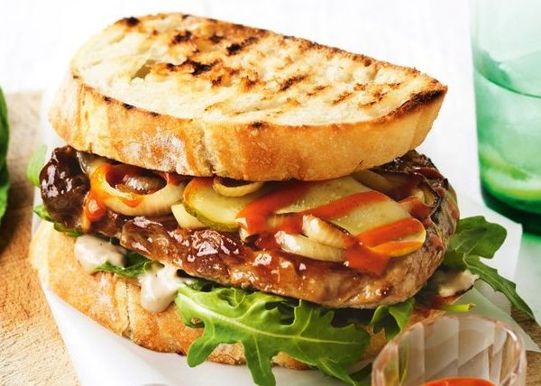 rib fillet steak sandwich