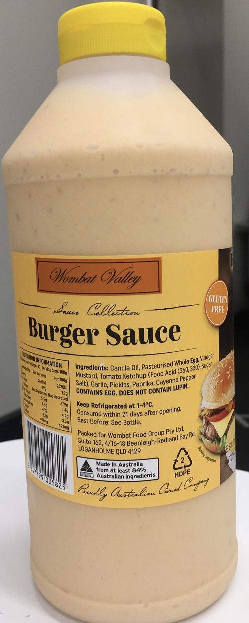 Wombat Burger Sauce 1 Litre