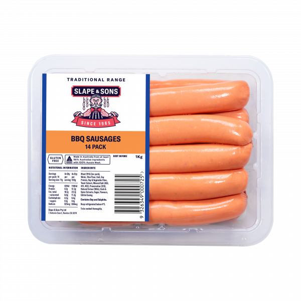 GT01-1 BBQ SAUSAGES 14 PACK